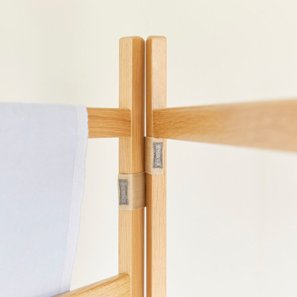 Detail White Oak clothes airer furniture by Richard Pearce Woodwork & Joinery Cornwall