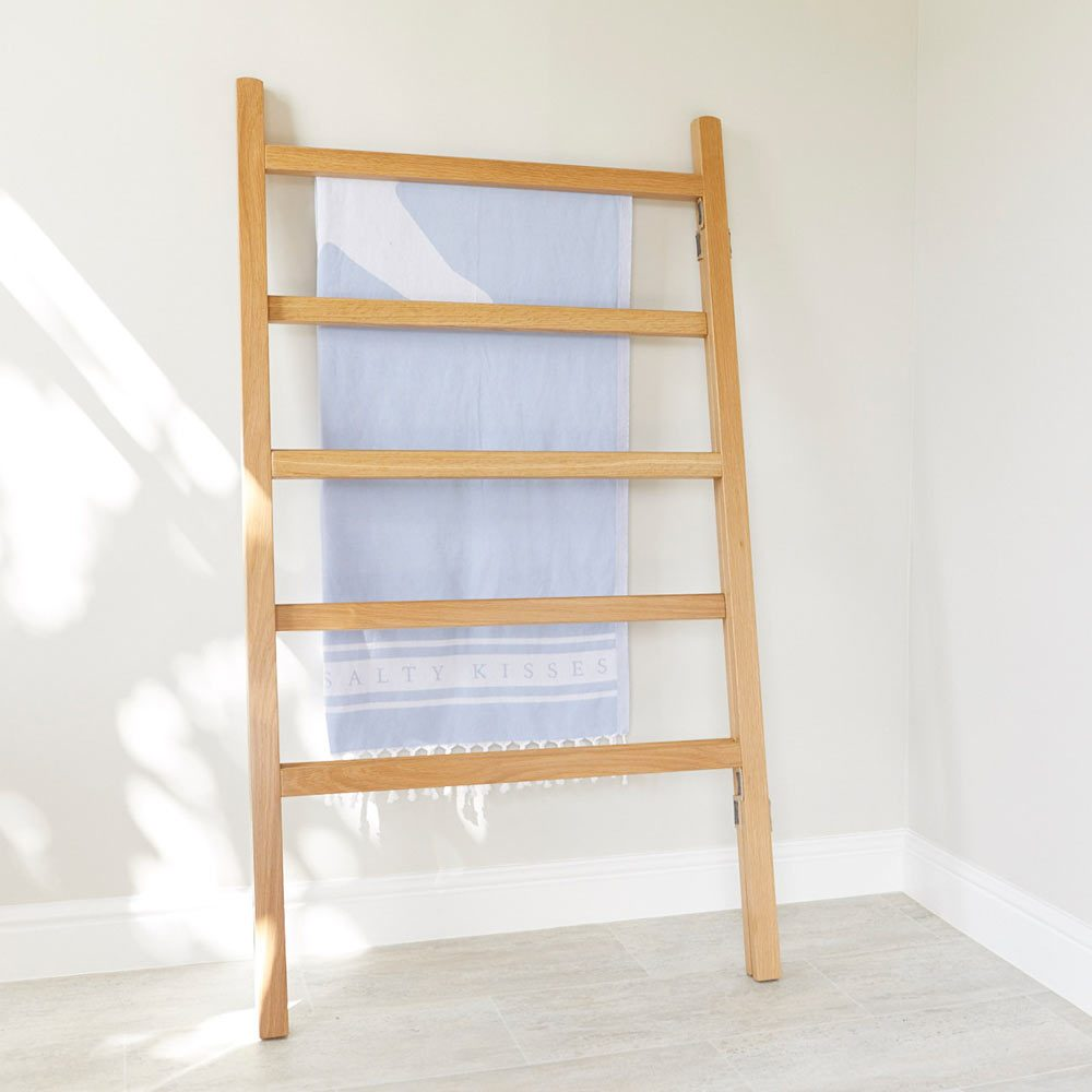 Folded White Oak clothes airer furniture by Richard Pearce Woodwork & Joinery Cornwall