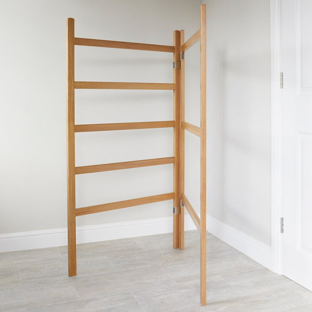 White Oak clothes airer furniture by Richard Pearce Woodwork & Joinery Cornwall