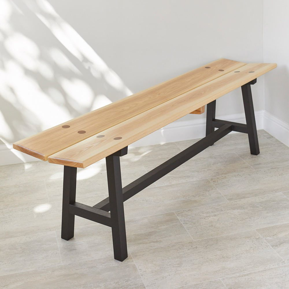 Modern Ash Long Bench by Richard Pearce Woodwork and Joinery