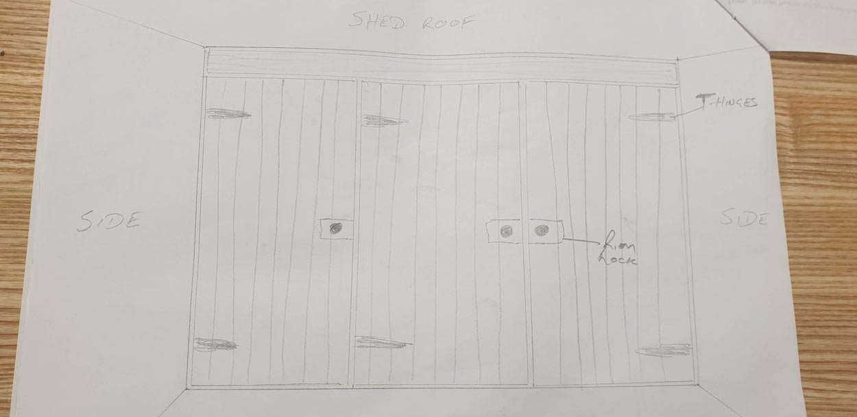 Summer house shelving joinery plan drawing 1