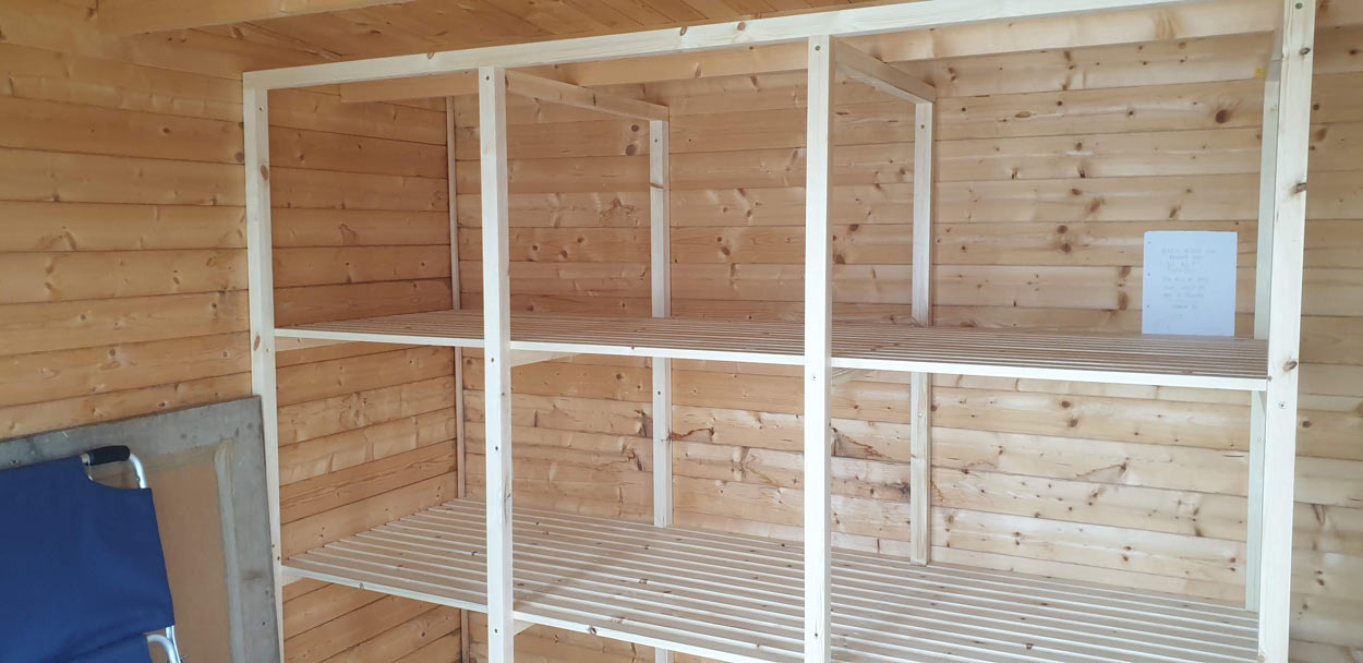 Summer house joinery shelving Summer house joinery shelving cornwall 5